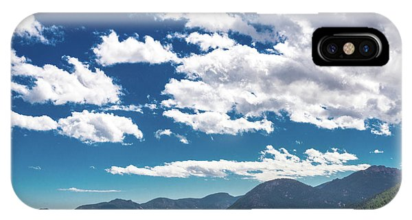 IPhone Case featuring the photograph Blue Skies And Mountains II by James L Bartlett