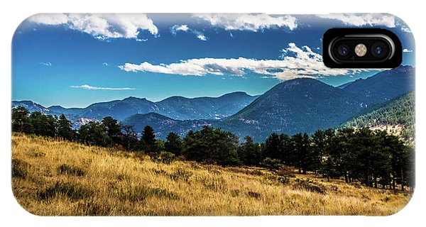 IPhone Case featuring the photograph Blue Skies And Mountains by James L Bartlett