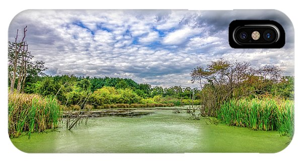 Alga iPhone X Case - Blue Sky And Green Water by Tom Mc Nemar