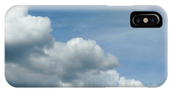 Blue Sky, White Clouds IPhone Case