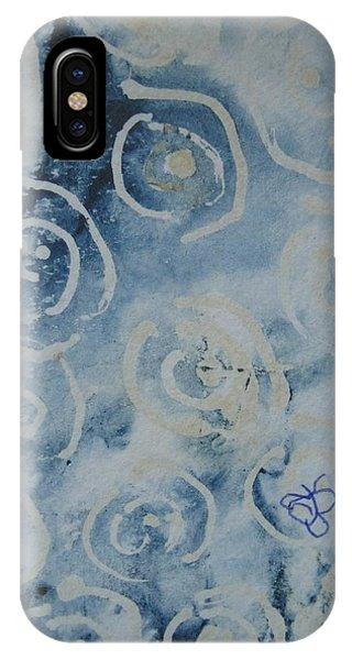Blue Spirals IPhone Case