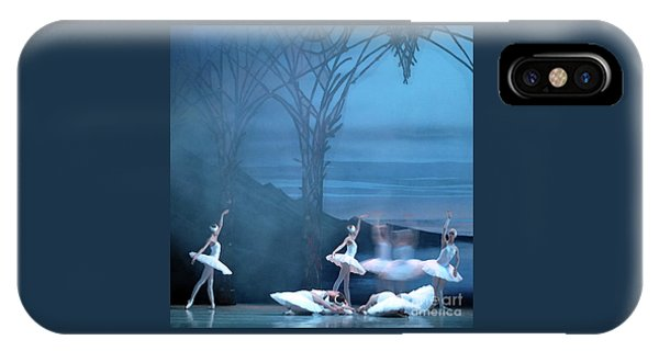 IPhone Case featuring the photograph Blue Swans by PJ Boylan