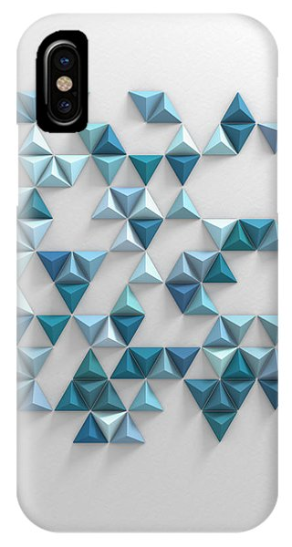 Triangles iPhone Case - Blue Triangles by Scott Norris
