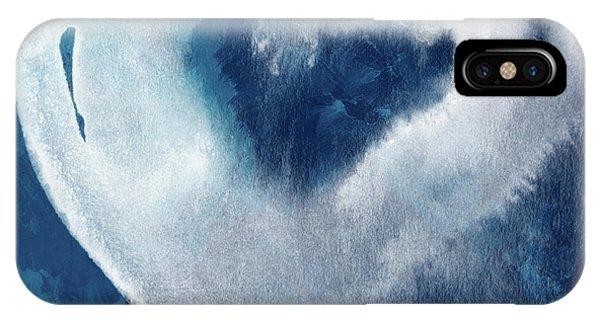Watercolor iPhone Case - Blue Valentine- Art By Linda Woods by Linda Woods