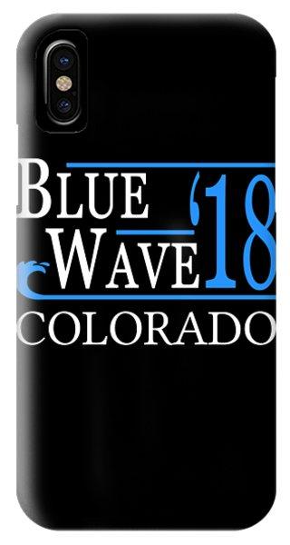 Blue Wave Colorado Vote Democrat 2018 IPhone Case