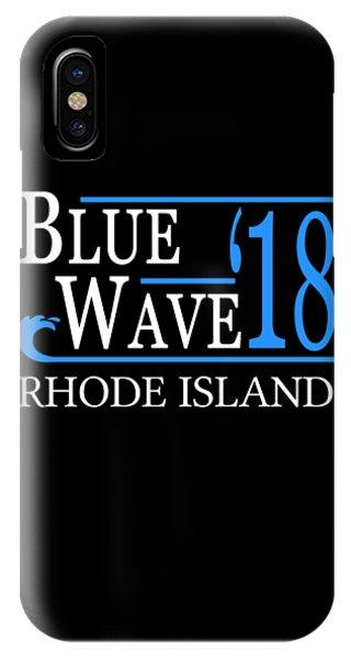 Blue Wave Rhode Island Vote Democrat 2018 IPhone Case