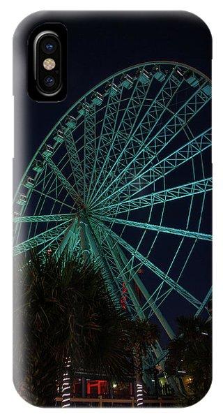 Blue Wheel IPhone Case