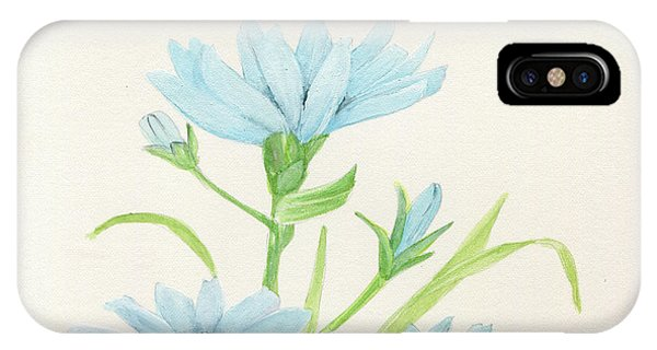Blue Wildflowers Watercolor IPhone Case