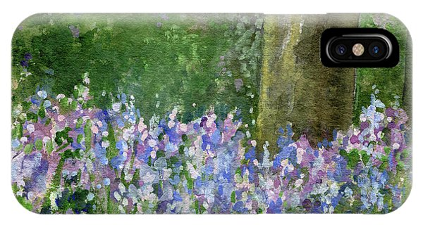 Bluebells Under The Trees IPhone Case