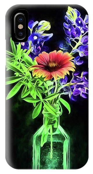 IPhone Case featuring the photograph Bluebonnets And Indian Blanket Still Life by JC Findley