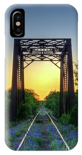 Bluebonnets On The Abandoned Railroad IPhone Case