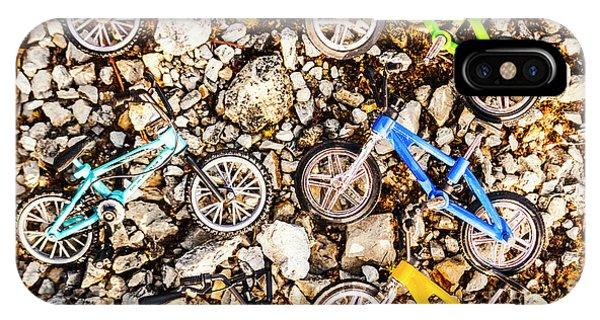 Rocky Mountain iPhone Case - Bmx Pebble Race by Jorgo Photography - Wall Art Gallery