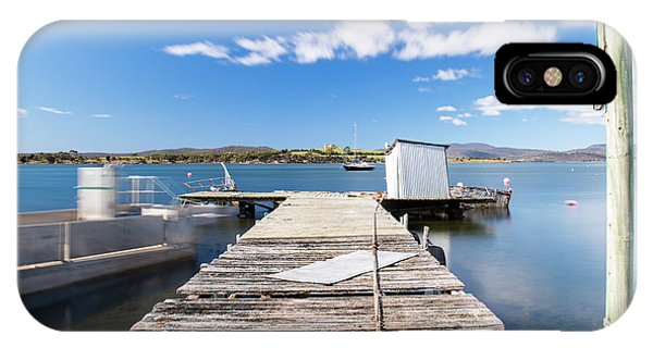 IPhone Case featuring the photograph Boat Jetty Found On Bruny Island In Tasmania, Australia. by Rob D