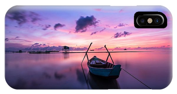 Boat Under The Sunset IPhone Case