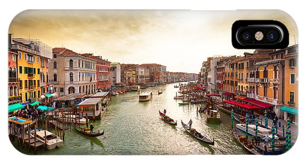 Ripples iPhone Case - Boats And Gondolas On The Grand Canal by Photoff
