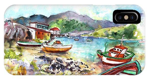 iPhone Case - Boats In Ezaro In Galicia 03 by Miki De Goodaboom
