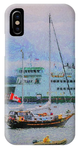 Port Townsend iPhone Case - Boats In Puget Sound by Mike Penney