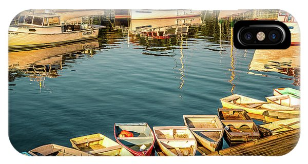 Boats In The Cove. Perkins Cove, Maine IPhone Case