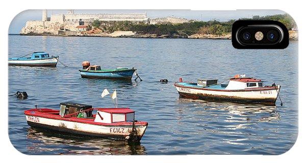 Boats In The Harbor Havana Cuba 112605 IPhone Case