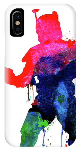 Film iPhone Case - Boba Cartoon Watercolor by Naxart Studio