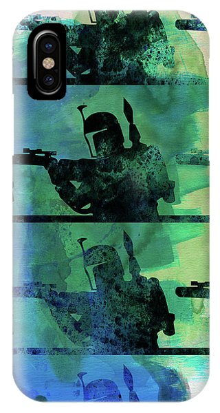 Film iPhone Case - Boba Fett Collage Watercolor 1 by Naxart Studio