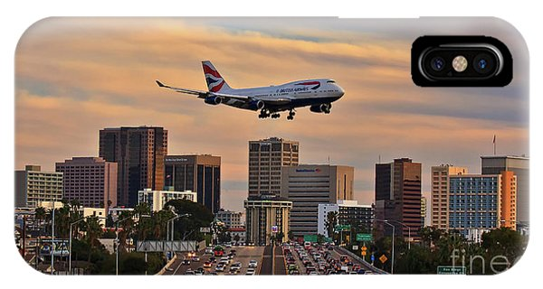 Boeing 747 Landing In San Diego IPhone Case