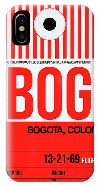 Brazil iPhone X Case - Bog Bogota Luggage Tag I by Naxart Studio