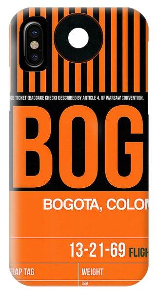 Brazil iPhone X Case - Bog Bogota Luggage Tag II by Naxart Studio