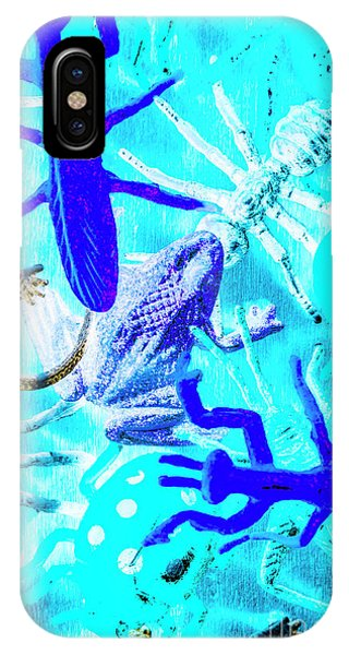 Garden Wall iPhone Case - Bohemian Blue by Jorgo Photography - Wall Art Gallery