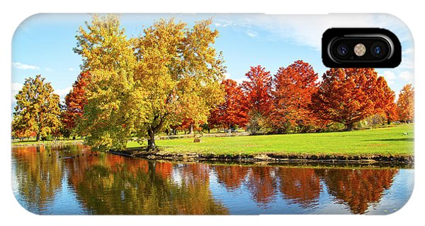 IPhone Case featuring the photograph Boise Fall Foliage by Dart and Suze Humeston