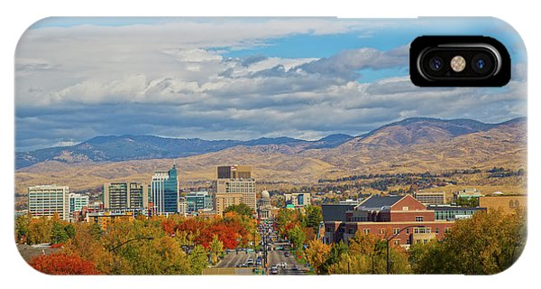 IPhone Case featuring the photograph Boise In Fall by Dart and Suze Humeston