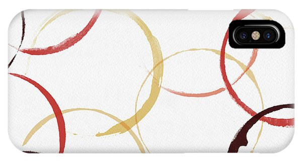 Bold Modern Wine Rings Art IPhone Case