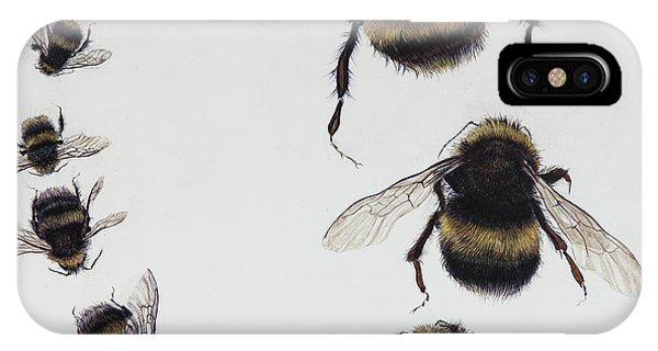 Boats iPhone X Case - Bombus by Odile Kidd