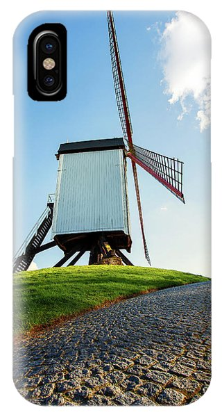 IPhone Case featuring the photograph Bonne Chiere Windmill Bruges Belgium by Nathan Bush