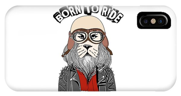 Born To Ride - Baby Room Nursery Art Poster Print IPhone Case