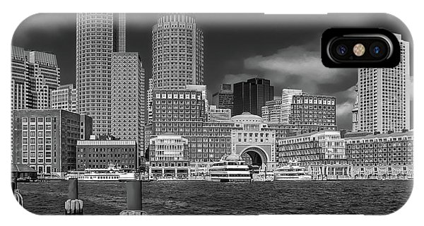 Boston Harbor Skyline IPhone Case