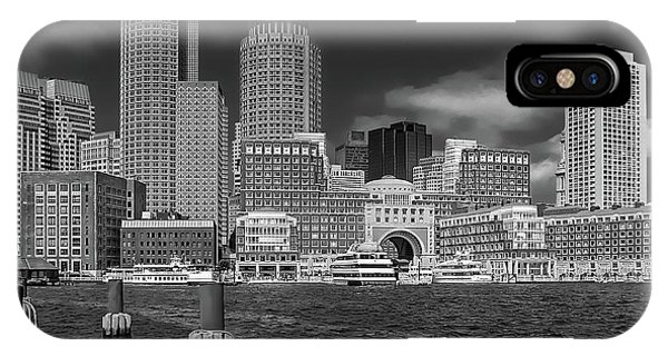 Boston Harbor Skyline IPhone Case