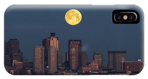 Boston Moonset IPhone Case