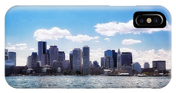 Boston Skyline From Boston Harbor  IPhone Case