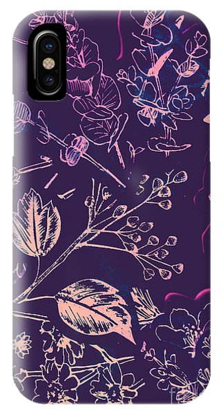 Wild Violet iPhone Case - Botanical Branching by Jorgo Photography - Wall Art Gallery