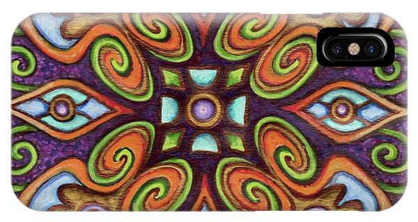 Botanical Mandala 11 IPhone Case