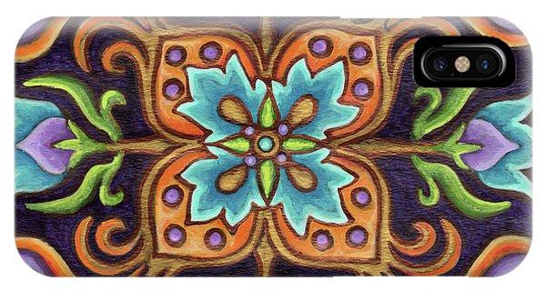 Botanical Mandala 12 IPhone Case