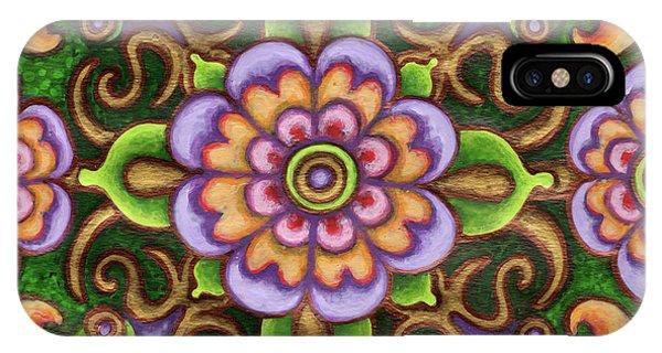 Botanical Mandala 5 IPhone Case