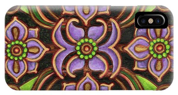 Botanical Mandala 6 IPhone Case