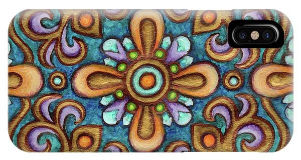 Botanical Mandala 7 IPhone Case