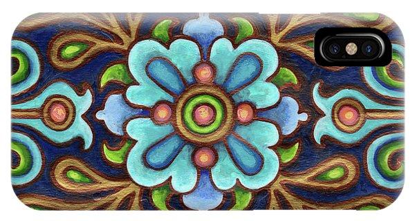 Botanical Mandala 9 IPhone Case