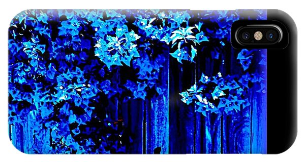 IPhone Case featuring the photograph Bougainvillea Blues by VIVA Anderson