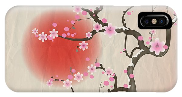 Culture iPhone Case - Bough Of A Cherry Blossom Tree Against by Jane Rix