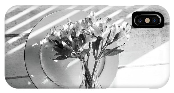 Bouquet And Plate-bw IPhone Case