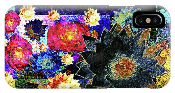 IPhone Case featuring the mixed media Bouquet Of Gratitude And Forgiveness by Aberjhani